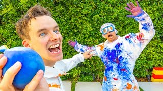 PAINT FILLED WATER BALLOON FIGHT!! (GONE WRONG)