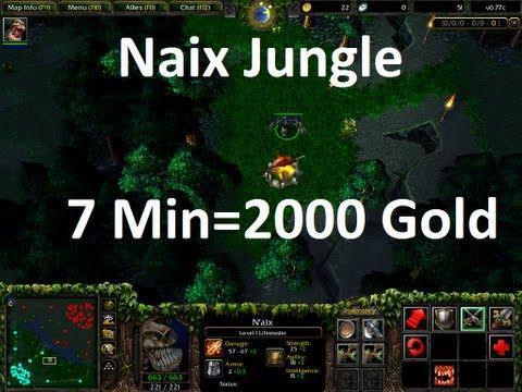 DotA- Naix Jungle (wood) 7 minutes = 2000 GOLD