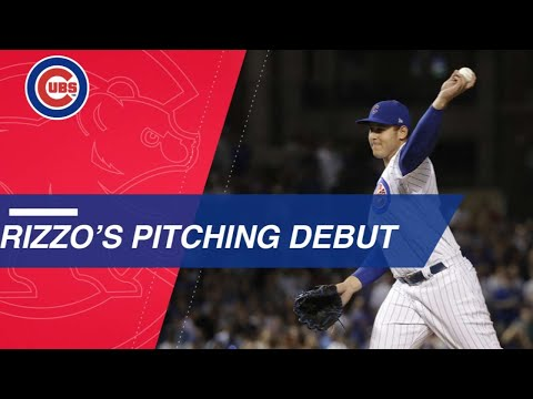 Anthony Rizzo makes his Major League pitching debut
