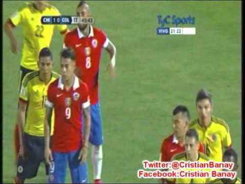Chile 1 Colombia 1 (Radio Cooperativa) Eliminatorias a Rusia 2018