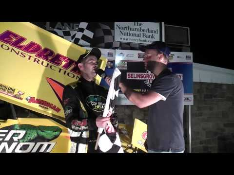 Selinsgrove Speedway 358/360 Sprint Car Challenge Race Victory Lane 5-11-13