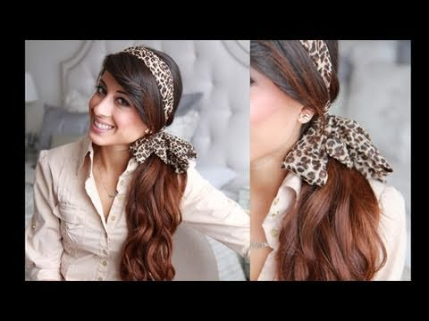 Headband Ponytail Hairstyle Youtube