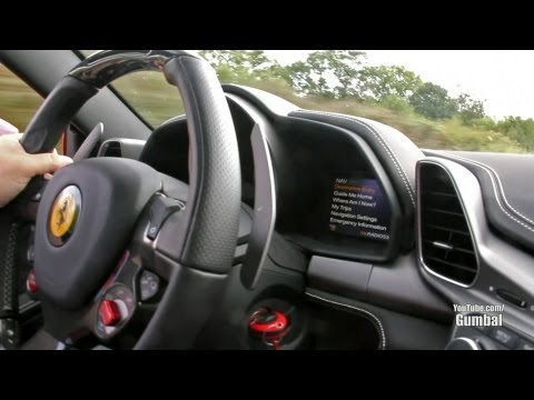 Exciting ride in a Ferrari 458 Italia! - Downshifts & Accelerations!!