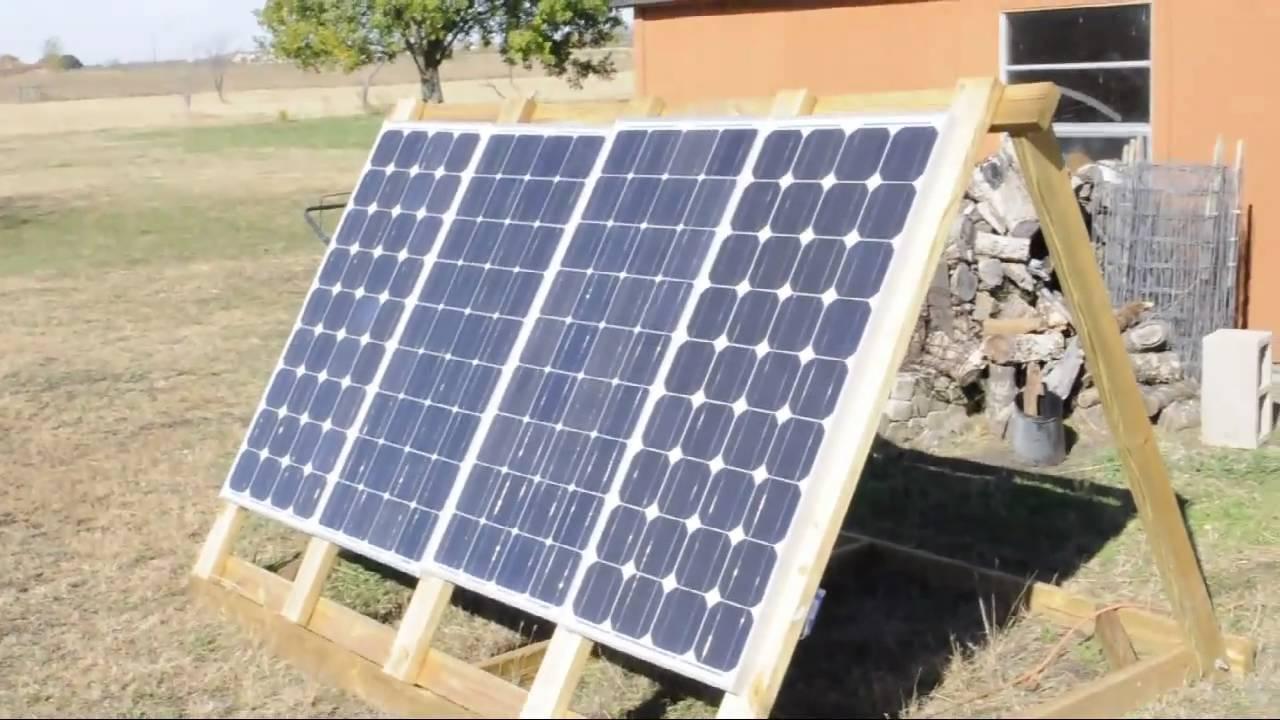 Solar Panel Frame Youtube