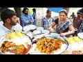 It's A Office Lunch Time In Hyderabad | Chicken Rice @ 60 Rs  Veg Meals @ 50 Rs | IndianStreetFood