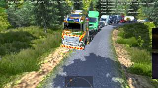 Volvo FH16 750 with Heavy Cargo too difficult and AI crash... [No sound]