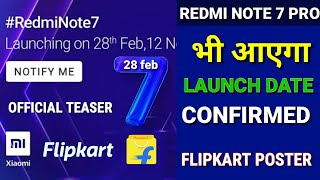 Redmi note 7 Pro Official teaser on Flipkart | Redmi note 7 Pro launch date in India, Price, camera