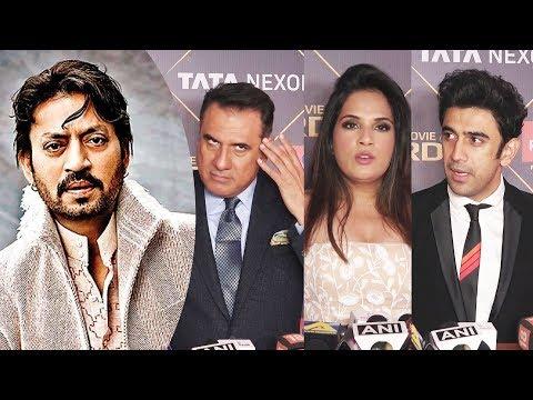 Celebrities Reaction On IRRFAN KHAN Getting Best Actor Award At News 18 Reel Movie Awards