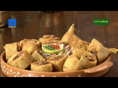 Cut Mirchi (కట్ మిర్చి) - How to Make Cut Mirchi - Snacks Recipes - Teluguruchi Cooking Videos