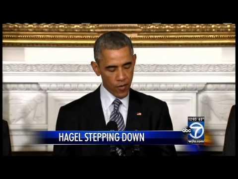 Defense Secretary Chuck Hagel steps down