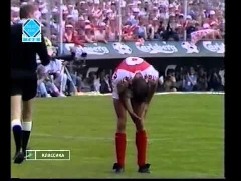 ЧМ по футболу 1986г. Отборочный матч  Дания - СССР