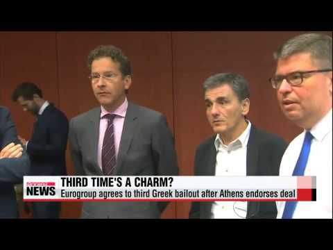 Eurogroup agrees to third Greek bailout after Athens endorses deal   유로존, 그리스 3차