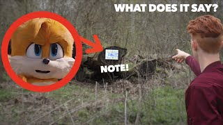 TAILS LEFT ME A NOTE IN REAL LIFE! *Sonic The Hedgehog*