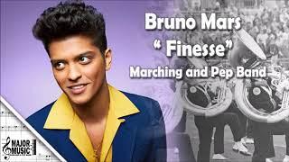 "Download Lagu ""Finesse"" Remix Bruno Mars Ft. Cardi B Marching/Pep Band Sheet Music Arrangement Gratis STAFABAND"