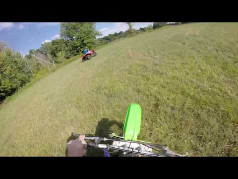 Kdx 200 2 Stroke first time ride