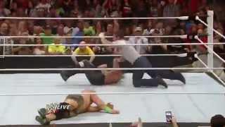 Dean Ambrose attack Seth Rollins & Roman Reigns Save john Cena fom Kane RAW 30 June 14