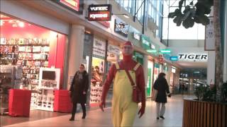 red and yellow latex worn in public