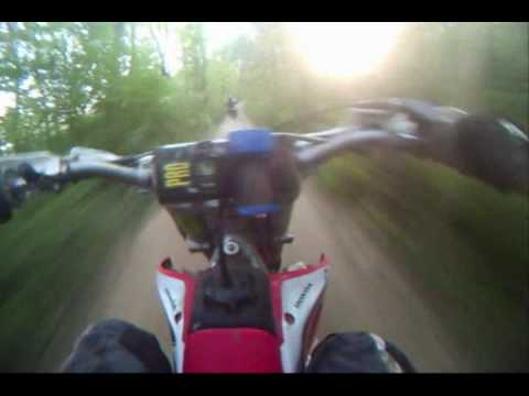 Honda CR250 & 2004 Yamaha YZ250F Theilman Minnesota Enduro Trail Ride Fall 2009 - Video 5 Video