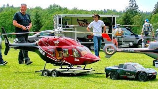 BIG RC BELL-429 SCALE MODEL VARIO ELECTRIC HELICOPTER FLIGHT DEMONSTRATION