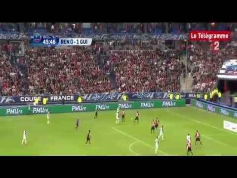 Finale de la Coupe de France  Rennes Guingamp (0 2)  Les deux buts [3/5/2014]