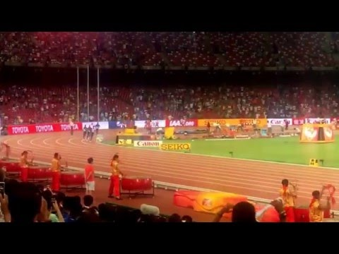Men`s 10000m Final IAAF World Championships Beijing 2015 - Mo Farah Wins (final 500meters)