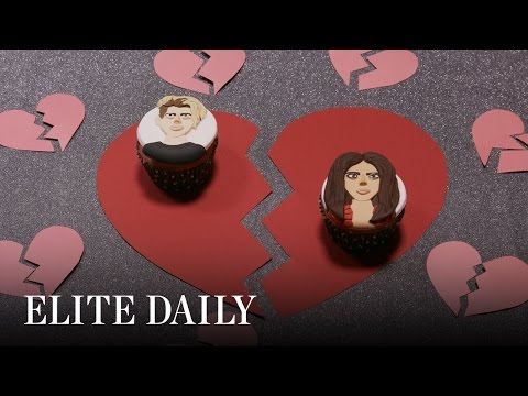 Celebrity Breakups We're Still Not Over Drawn On Cupcakes [LABS] | Elite Daily