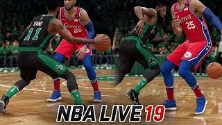 NBA LIVE 19 GAMEPLAY! NEW ANKLE BREAKER DRIBBLE MOVES - SHAMMGOD, NUTMEG & MORE!