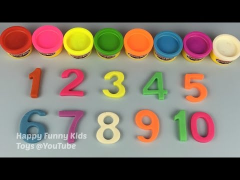 Learn Colours and Learn to Count Numbers from 1 to 10 With Creative Dough