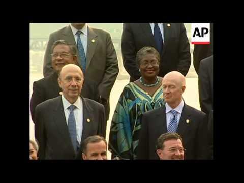 G20 finance chiefs meet, photo-op