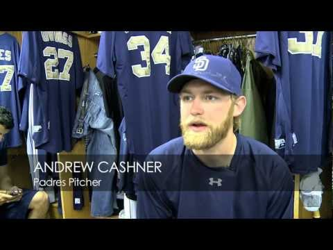 A visit with Padres reliever Andrew Cashner