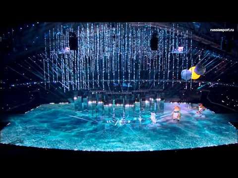Sochi closing ceremony (bear moment)