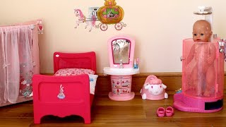 Baby Dolls Bedroom Baby Born Baby Annabell Evening Routine and Children Nursery Rhymes