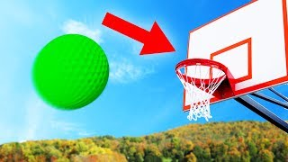 CAN YOU DUNK THE GOLFBALL?! (Golf With Friends)