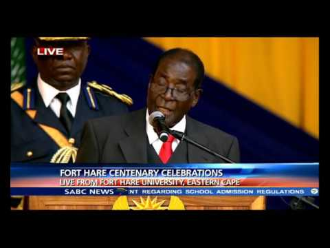 Robert Mugabe's Fort Hare centenary celebration speech