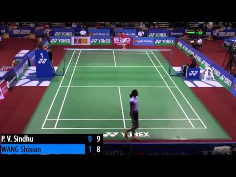 R32 - WS - WANG Shixian vs Sindhu P.V. - 2014 India Badminton Open