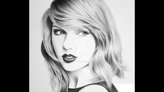 Taylor Swift Pencil Drawing & Bir Dakikada Taylor Swift Çizimi