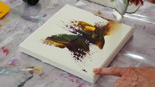 Abstract Painting demo / Relaxing Demo / Acrylics / Art Therapy / Palette knife