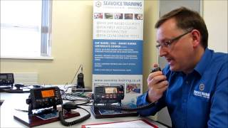 Distress (Mayday) message by voice on a VHF DSC Radio