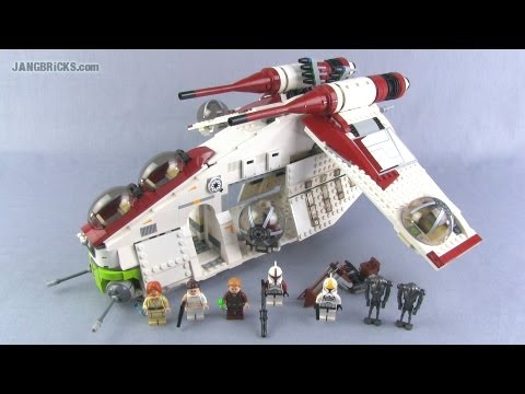 LEGO Star Wars 75021 Republic Gunship set Review!