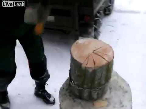 how chop wood