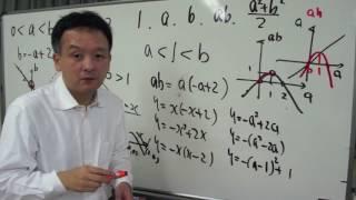 FCS数学教室/式と証明「不等式の証明/グラフ利用編」