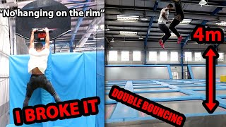 Breaking ALL RULES In The TRAMPOLINE PARK (MANAGEMENT CAME)