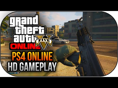 GTA 5 PS4 Gameplay First Person Online Multiplayer in Next Gen (GTA 5 PS4 Gameplay)