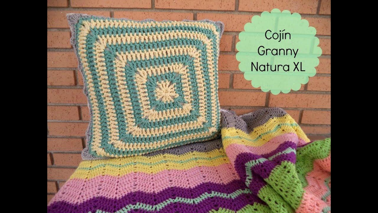C mo hacer un coj n de ganchillo con granny square - Cojin de crochet ...