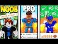 NOOB vs PRO vs ROBUX SPENDER *EPIC* | Super Power Training Simulator