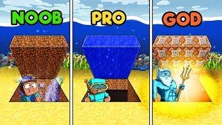 Minecraft - SECRET UNDERWATER BASE! (NOOB vs. GOD vs. HACKER)