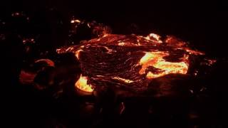 Incredible lava time lapse!