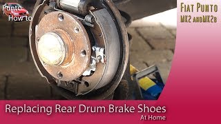 Replacing the rear brake shoes and drums on a Fiat Punto 1999 - 2005