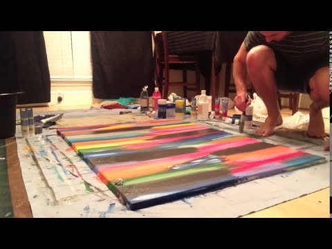 Abstract / Modern Painting #2 Acrylic 3' x 4' DIY how to