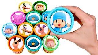 Sorpresas Divertidas de Pocoyo 👶🌈 Abrimos botes Play Doh de colores de Pocoyo